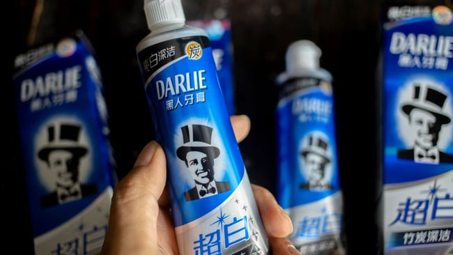 The Chinese name still means 'black person toothpaste'. Picture: Zhang Peng/LightRocket via Getty Images